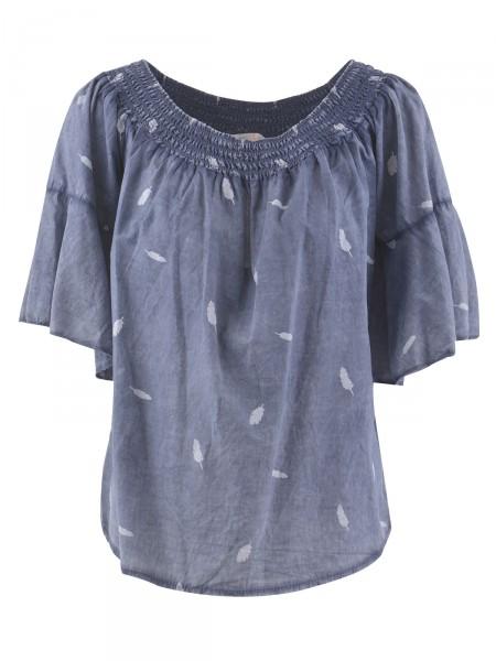 HEARTKISS Damen Bluse, blau