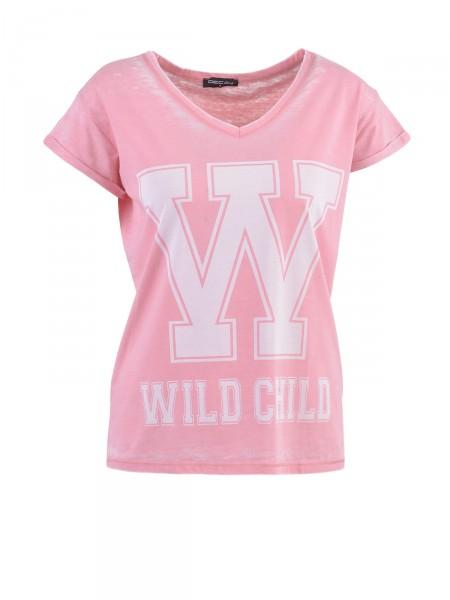 DECAY Damen T-Shirt, rosa