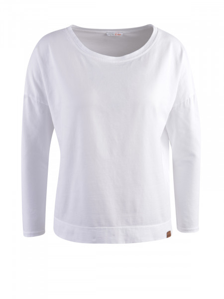HEARTKISS Damen Langarmshirt, weiß
