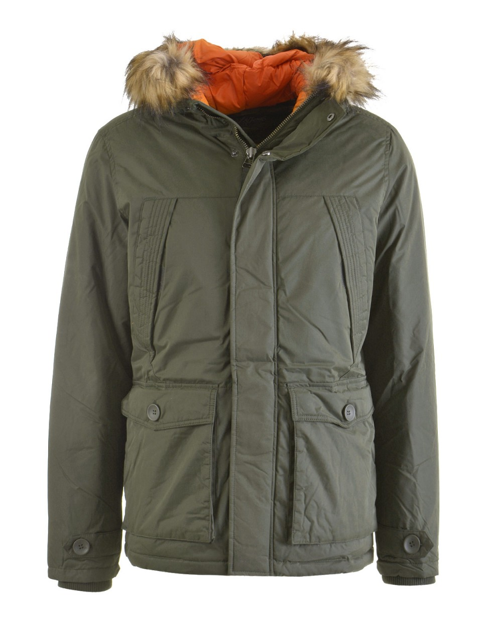 jack-amp-jones-herren-jacke-mountain-parka-oliv, 89.99 EUR @ designermode-com-mode