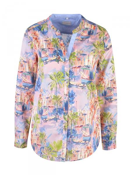 MILANO ITALY Damen Bluse, rosa-blau