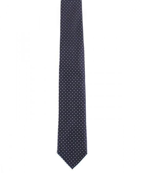 MILANO ITALY Krawatte, dunkelblau mit weißen Tupfen