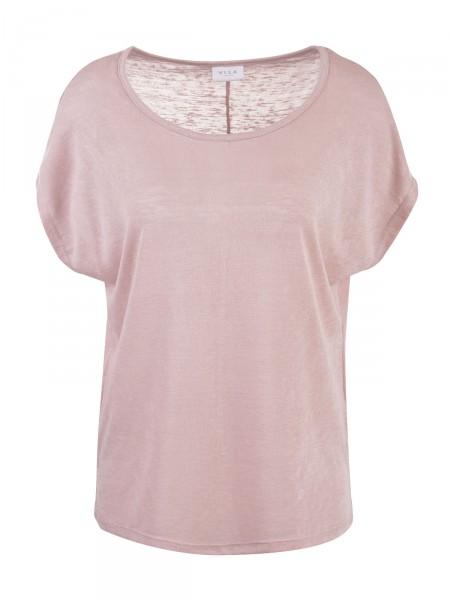 VILA Damen Top, rosa