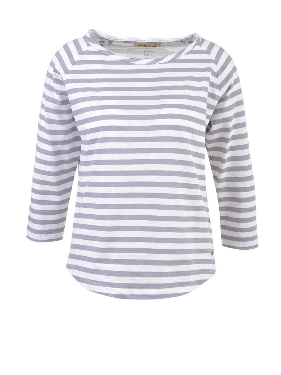Oberteile - SMITH SOUL Damen Shirt, grau weiß  - Onlineshop Designermode.com
