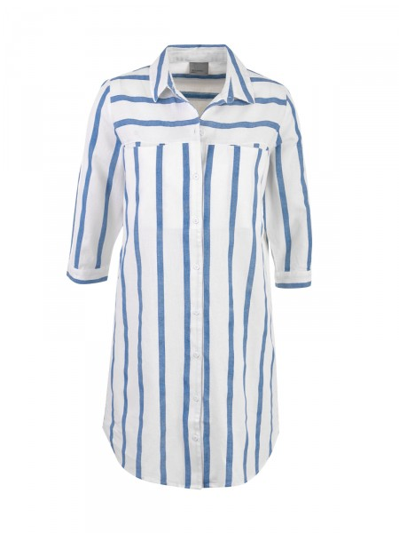 VERO MODA Damen Bluse, beige-blau