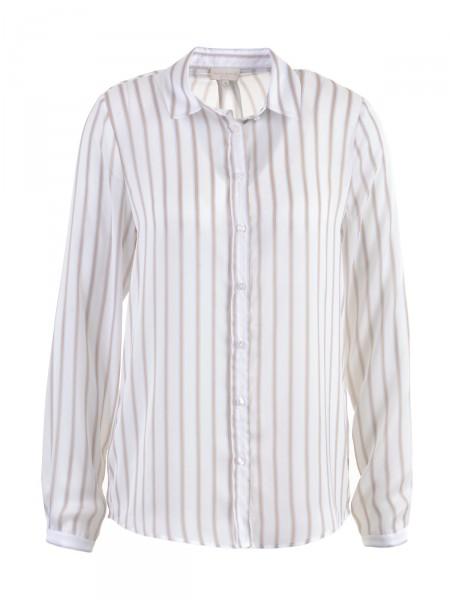 MILANO ITALY Damen Bluse, weiß-beige