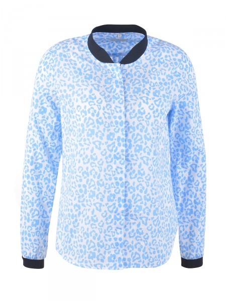 MILANO ITALY Damen Bluse, blau-weiß