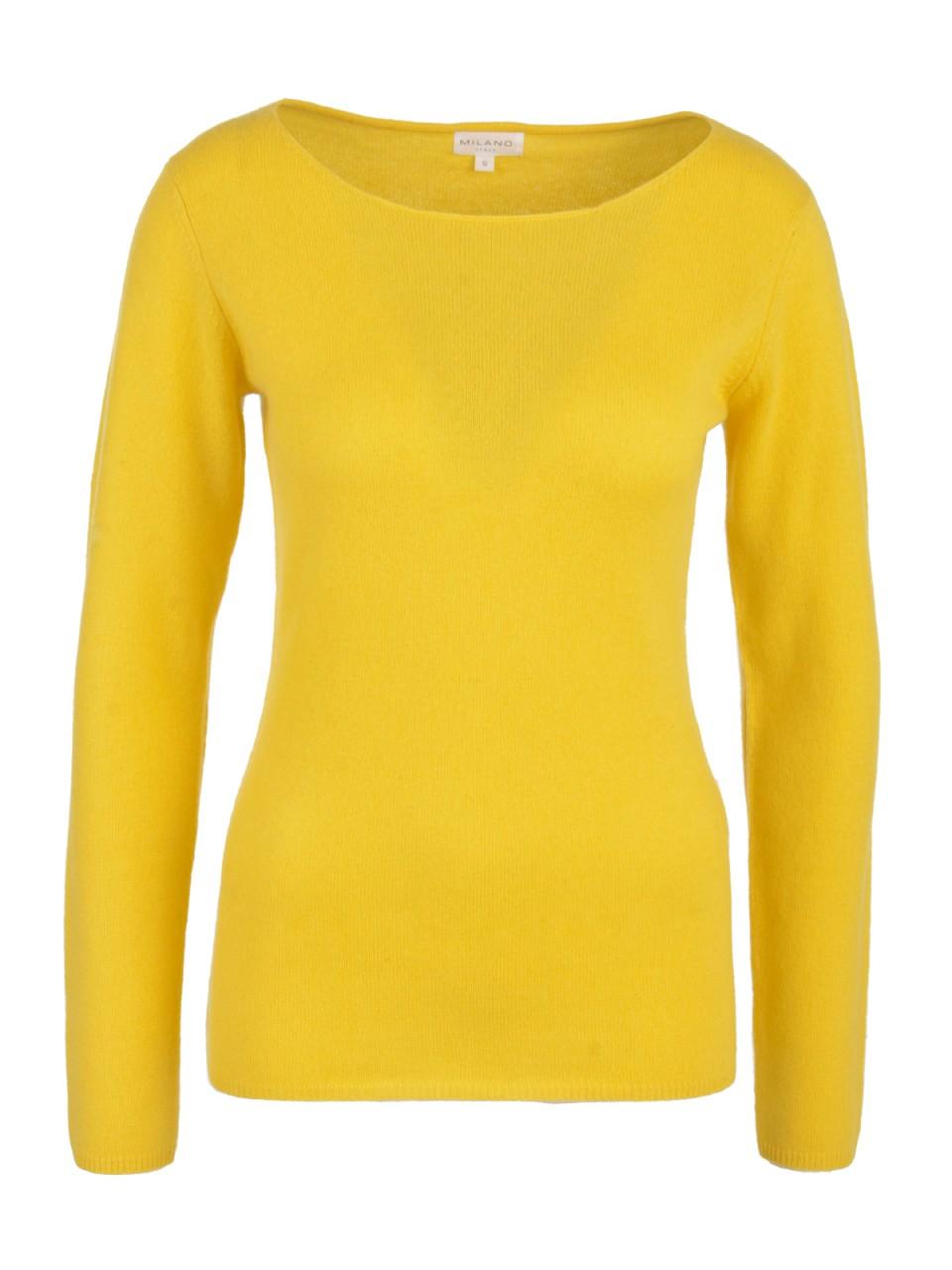 Oberteile - Milano Italy Damen Kaschmir Pullover, gelb  - Onlineshop Designermode.com