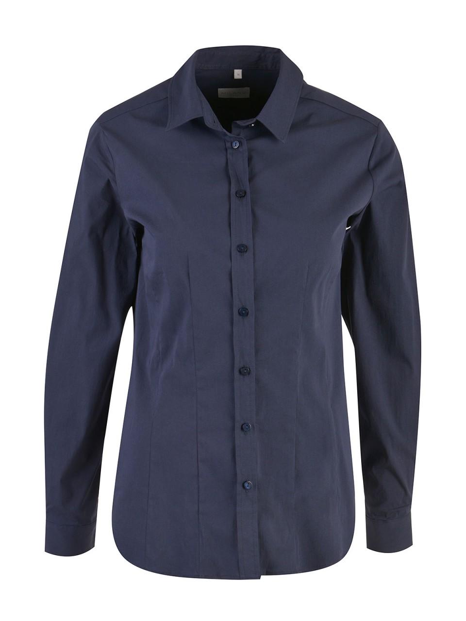 Oberteile - MILANO ITALY Damen Bluse, dunkelblau  - Onlineshop Designermode.com