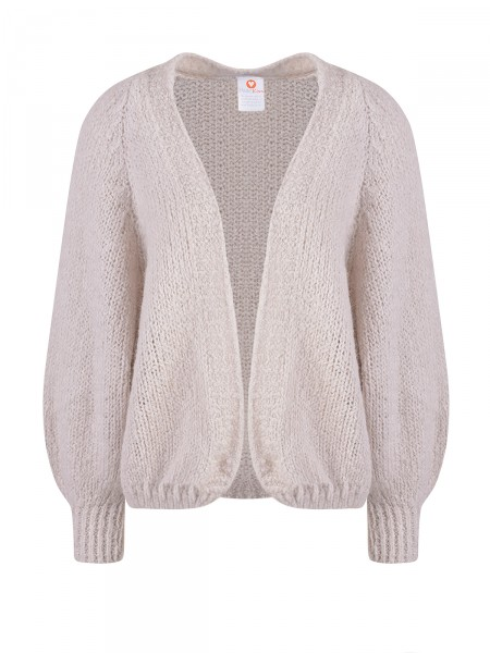 HEARTKISS Damen Strickjacke, beige