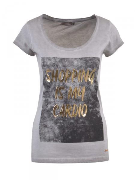 DECAY Damen T-Shirt, grau
