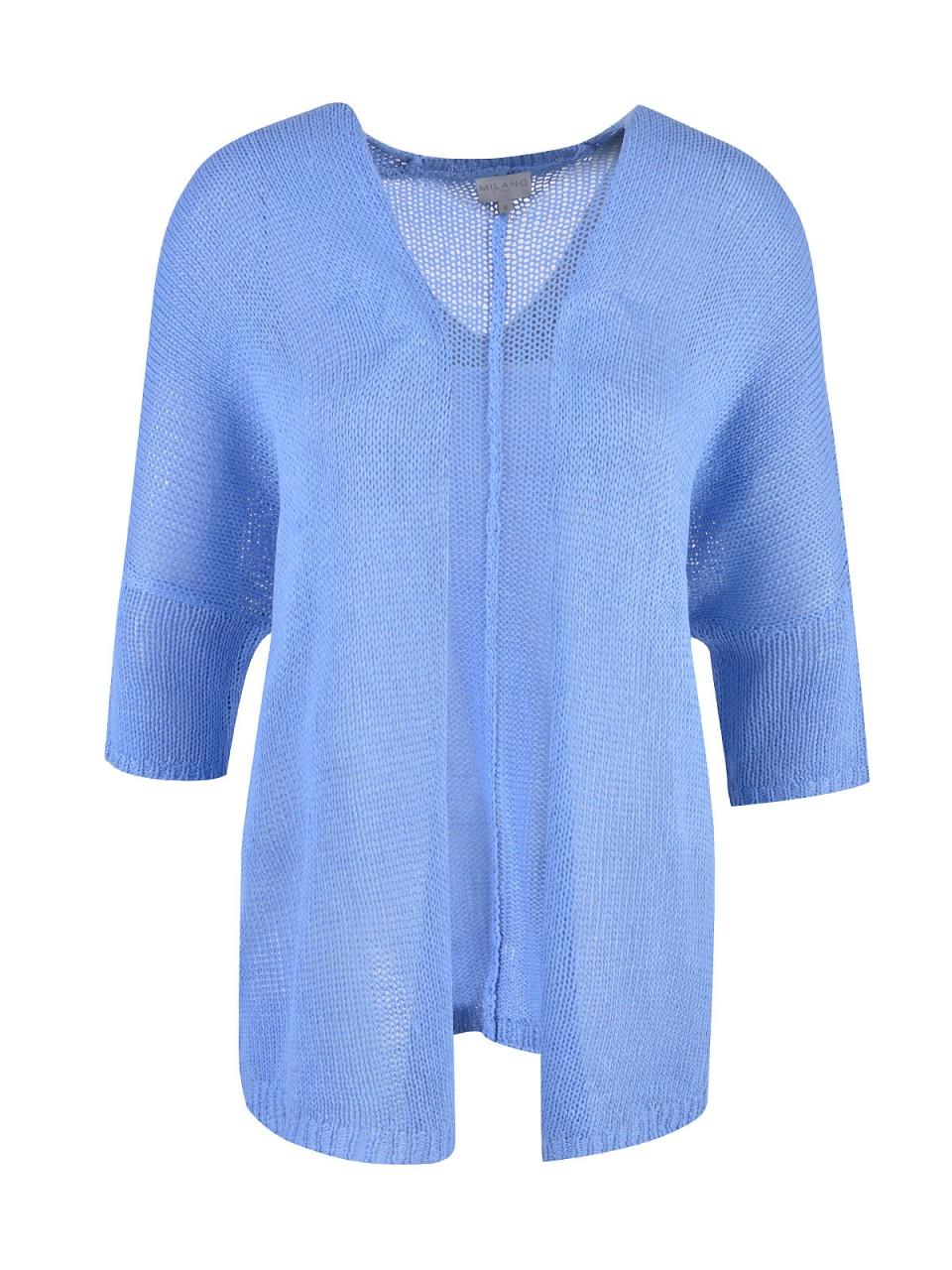 Jacken - MILANO ITALY Damen Cardigan, hellblau  - Onlineshop Designermode.com