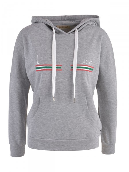 SMITH & SOUL Damen Kapuzensweatshirt, grau