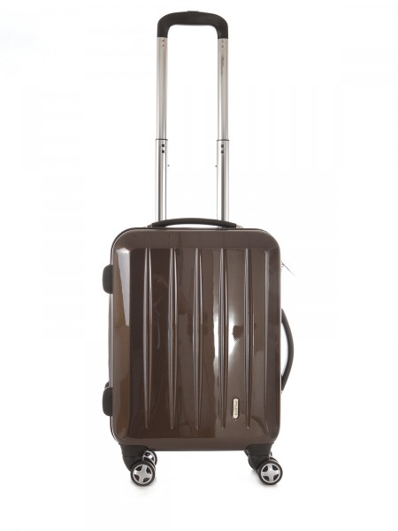 "MILANO ITALY Trolley ""London TSA 50 cm"", braun carbon"