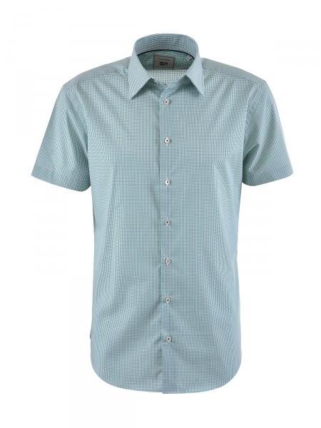 MILANO ITALY Herren Hemd, grün-weiß