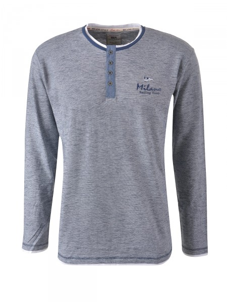 MILANO ITALY Herren Shirt, navy-weiß