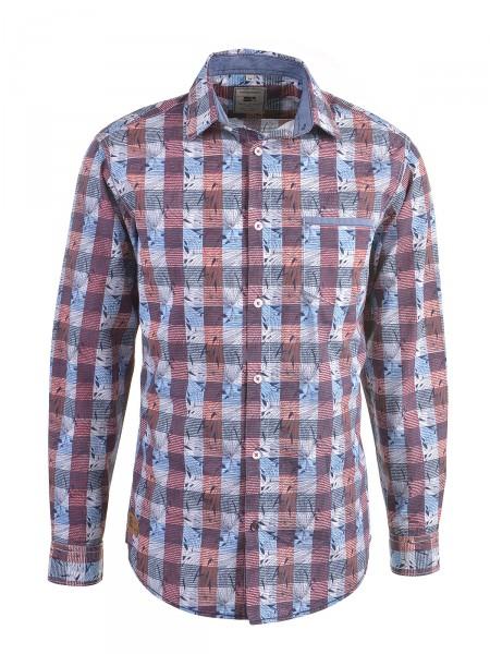 MILANO ITALY Herren Hemd, rot-blau