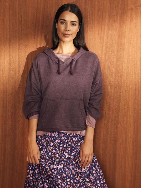 HEARTKISS Damen Sweatshirt, bordeaux