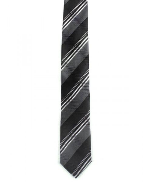 MILANO ITALY Herren Krawatte, grau gestreift