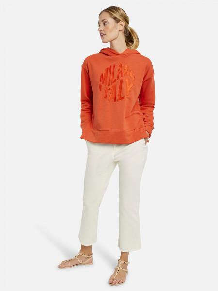 MILANO ITALY Damen Sweatshirt, rotorange