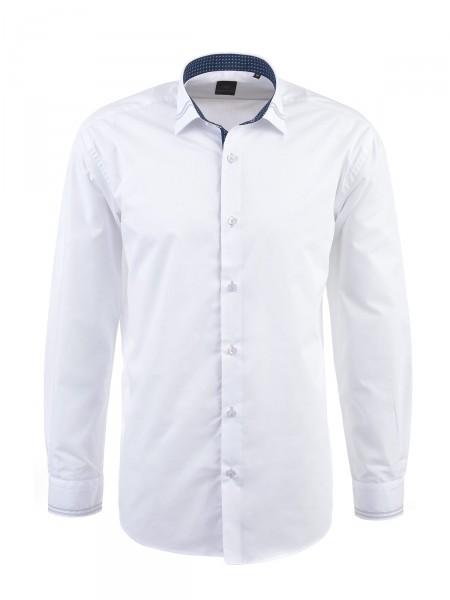 MILANO ITALY Herren Hemd, weiß