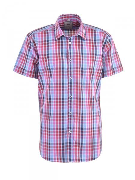 MILANO ITALY Herren Hemd, rot-weiß