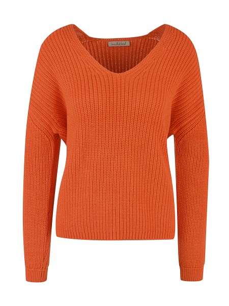 SMITH & SOUL Damen Strickpullover, orange