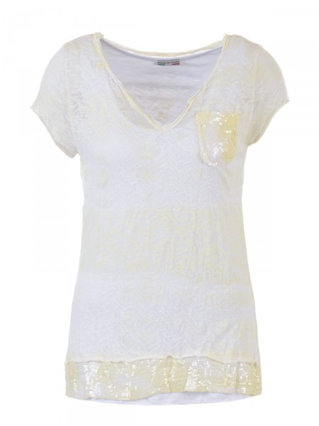 D&F FASHION Damen T-Shirt, gelb