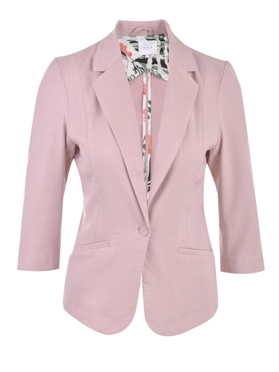 vila-damen-blazer-rosa