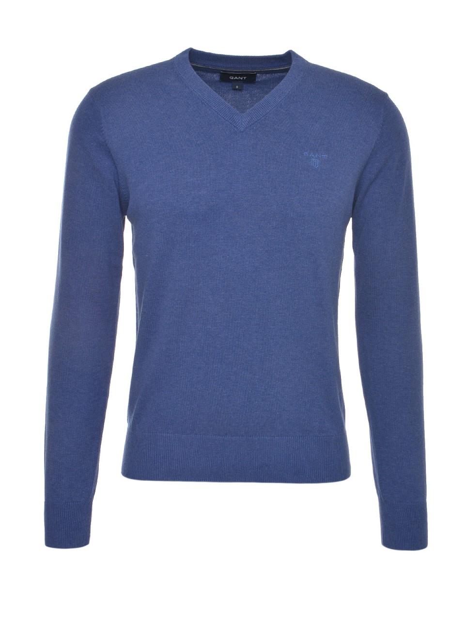 GANT Herren Pullover Weight Cotton, blau