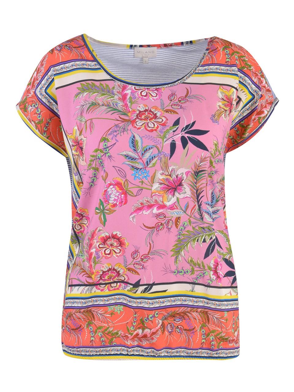 Oberteile - MILANO ITALY Damen Bluse, pink  - Onlineshop Designermode.com
