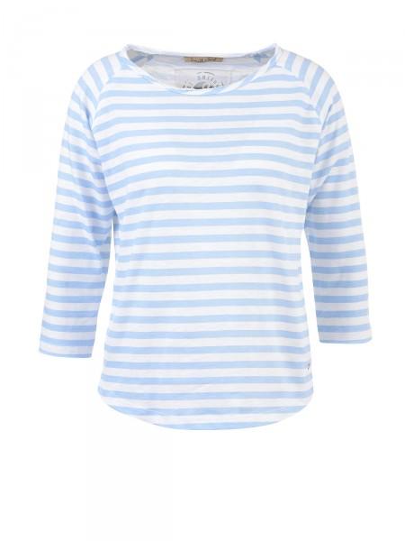 SMITH & SOUL Damen Shirt, hellblau-weiß