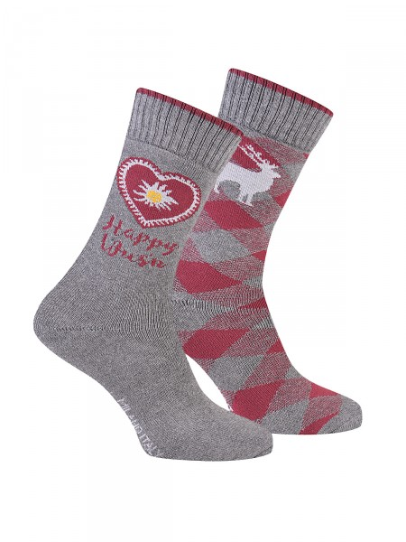 MILANO ITALY Socken im 2er Pack, grau