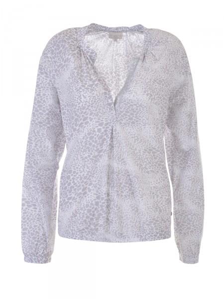 MILANO ITALY Damen Bluse, grau-weiß