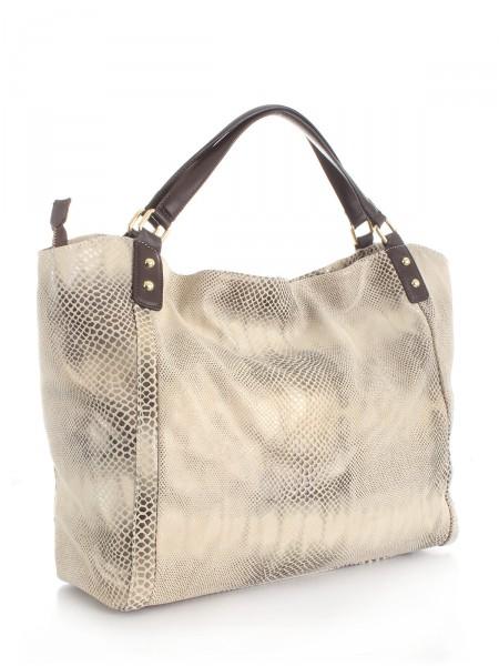 """MILANO ITALY Tasche """"1145"""" aus Leder, beige"""