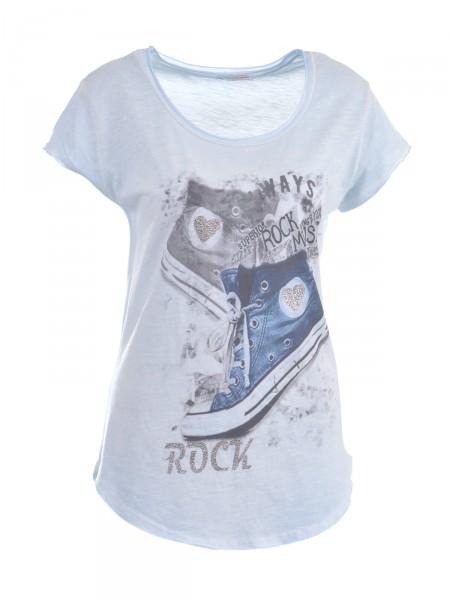 HEARTKISS Damen T-Shirt, blau