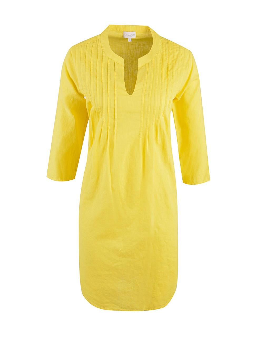 Kleider - MILANO ITALY Damen Kleid, gelb  - Onlineshop Designermode.com