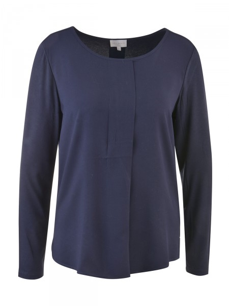 MILANO ITALY Damen Bluse, dunkelblau