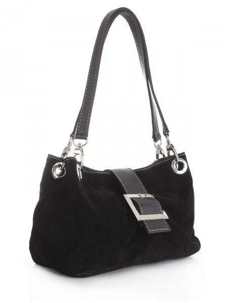 """MILANO ITALY Tasche """"584"""" aus Leder, schwarz"""