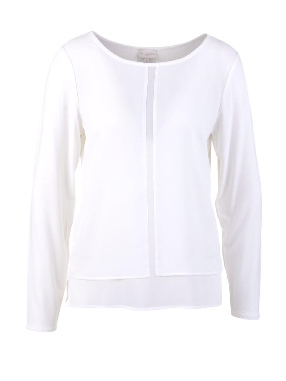 Oberteile - MILANO ITALY Damen Bluse, cremeweiß  - Onlineshop Designermode.com