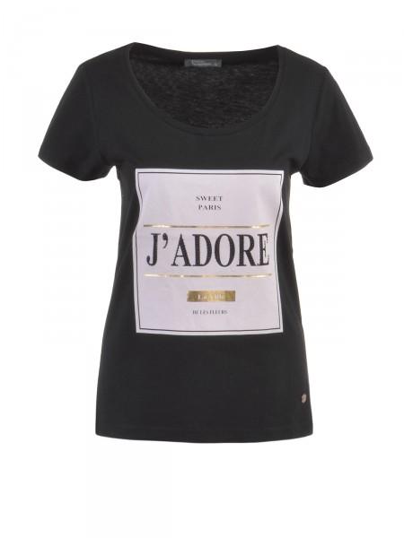 DECAY Damen T-Shirt, schwarz