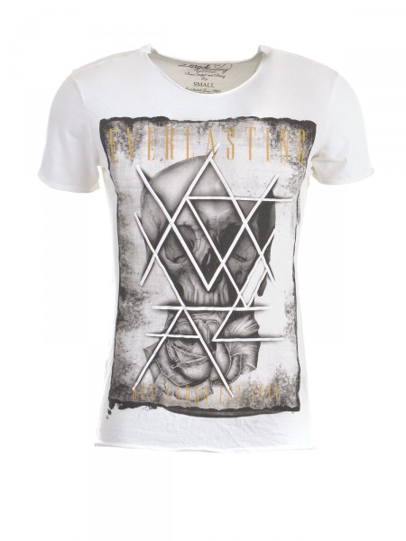 KEY LARGO Herren T-Shirt, cremeweiß
