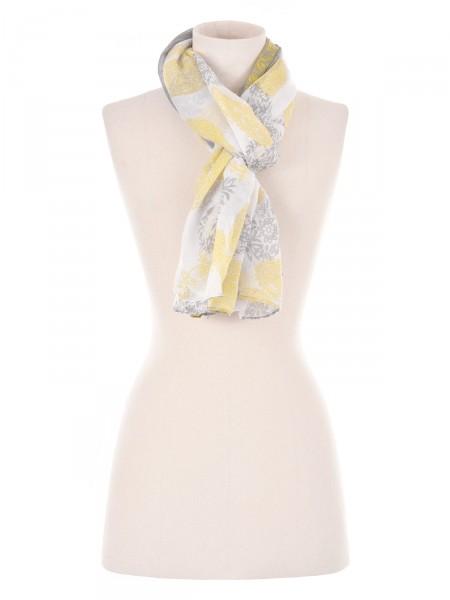 MILANO ITALY Damen Tuch, gelb-grau
