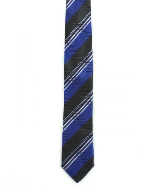 MILANO ITALY Krawatte, royalblau gestreift