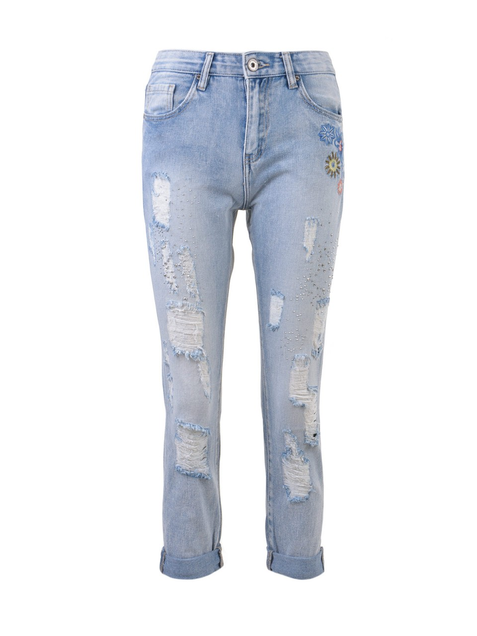 3D DENIM Damen Jeans, blau