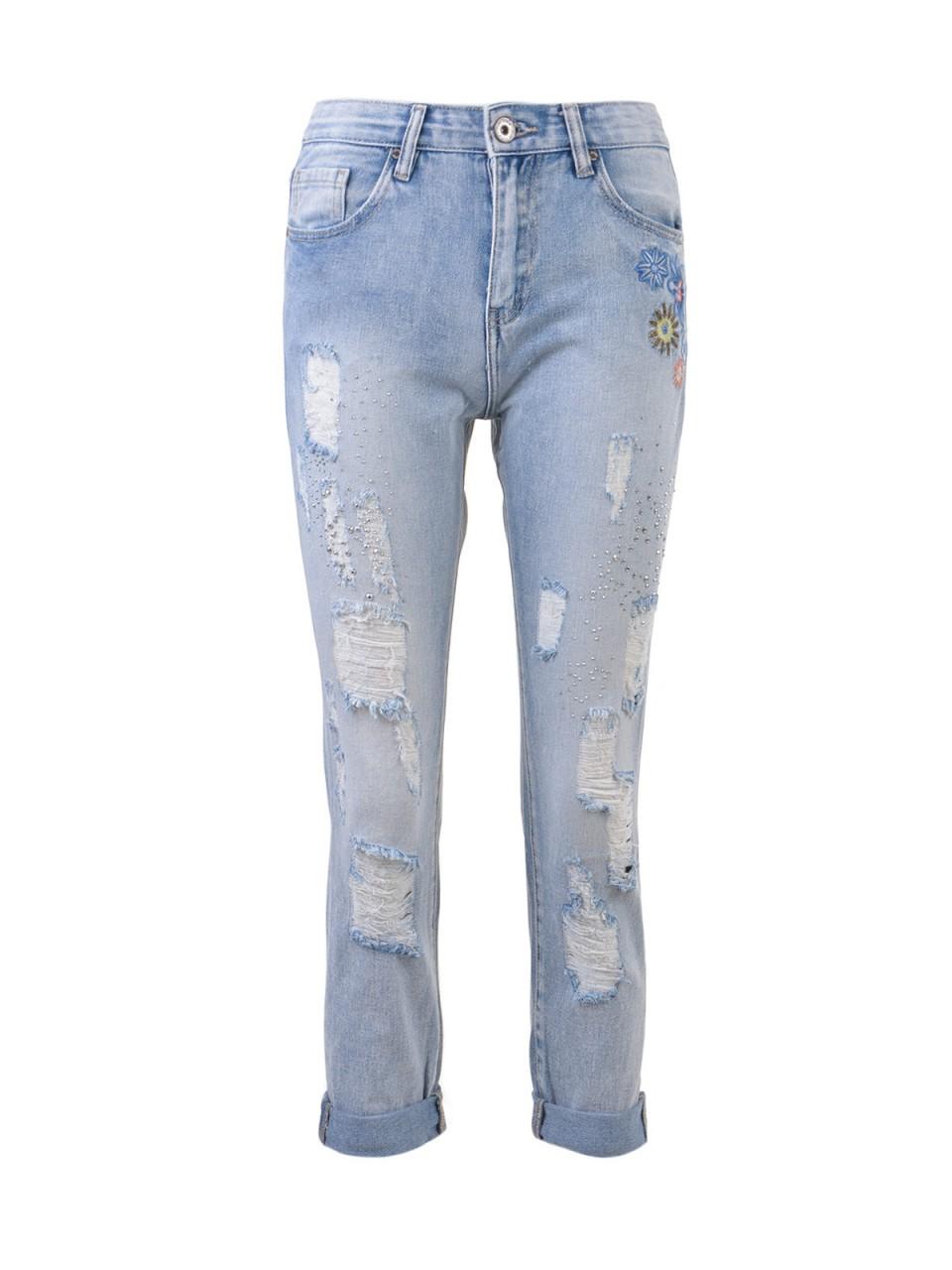 Hosen für Frauen - 3D DENIM Damen Jeans, blau  - Onlineshop Designermode.com