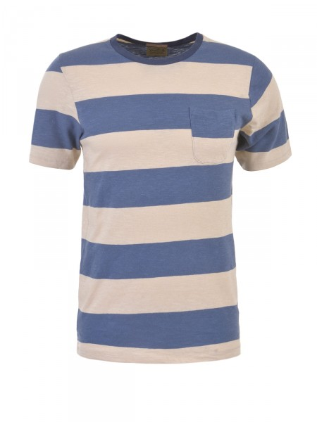 JACK & JONES Herren T-Shirt, beige-blau