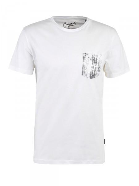 JACK & JONES Herren T-Shirt, weiß