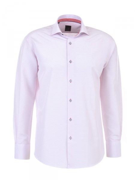 MILANO ITALY Herren Hemd, weiß-rosé