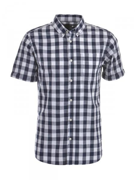 JACK & JONES Herren Hemd, blau-weiß